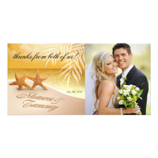 Starfish Couple ASK ME TO PUT NAMES IN SAND Photo Card