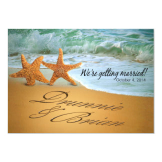 Starfish Couple ASK ME TO PUT NAMES IN THE SAND Card