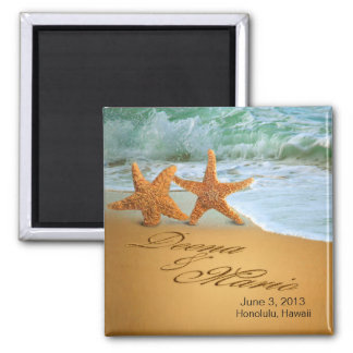 Starfish Couple ASK ME TO PUT NAMES IN THE SAND Magnet