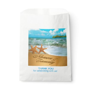 Beach Themed Starfish Couple ASK TO HAVE YOUR NAMES PUT IN SAND Favor Bag
