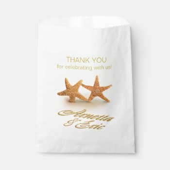 Starfish Couple ASK TO HAVE YOUR NAMES PUT IN SAND Favor Bag