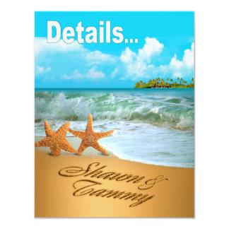 Starfish Couple Beach Reception Details Card