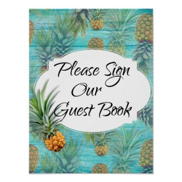 Beach Themed Starfish Couple Beach Theme Guest Book Table Sign