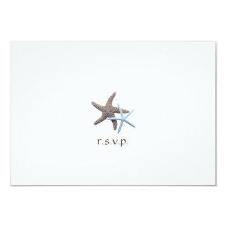 Starfish Couple Beach Themed Wedding Reply Card