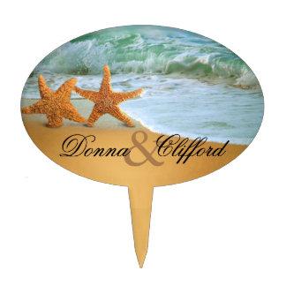 Starfish Couple Beach Wedding Cake Topper