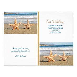 Starfish Couple Beach Wedding Programs