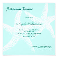 Starfish Couple Beach Wedding Rehearsal Dinner Card