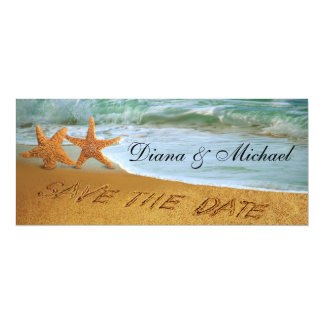 Starfish Couple Beach Wedding Save the Date Card