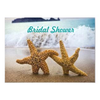 "Starfish Couple Bridal Shower Invitation 4.5"" X 6.25"" Invitation Card"