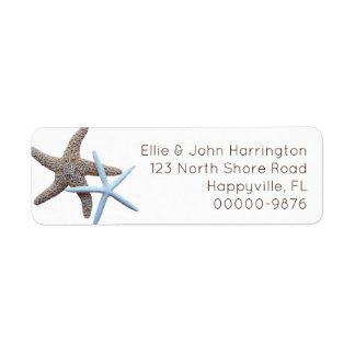 Starfish Couple Custom Return Address Label