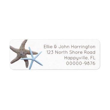 Beach Themed Starfish Couple Custom Return Address Label