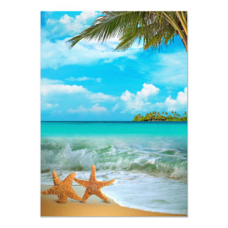 Starfish Couple - DIY Ready for Embellishment Personalized Invitations