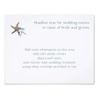 Starfish Couple Flat 4x5 Inch Enclosure Cards