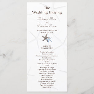 flat wedding programs rack cards zazzle