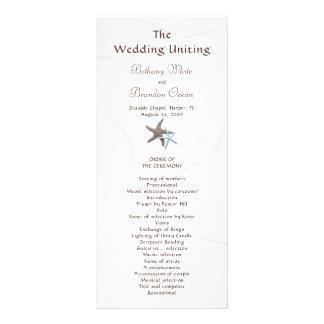 Starfish Couple Flat Double Sided Wedding Program