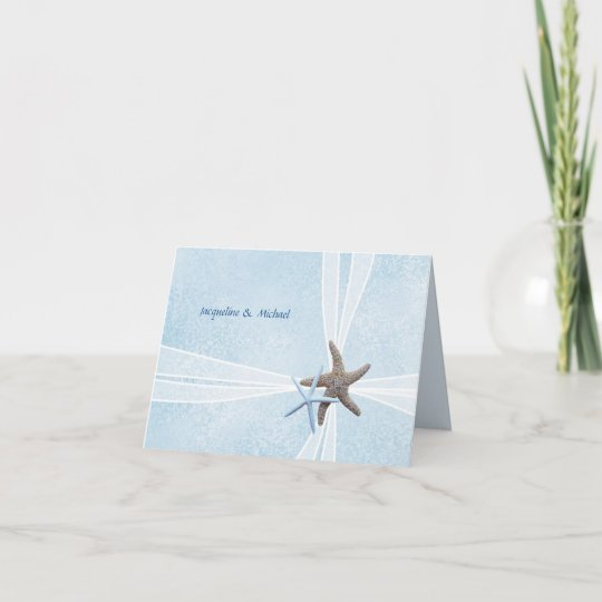 Starfish Couple Gift Box Wedding Thank You Zazzle