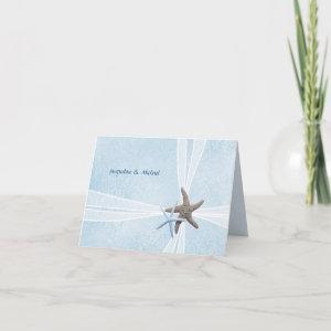 Starfish Couple, Gift Box Wedding Thank You Cards