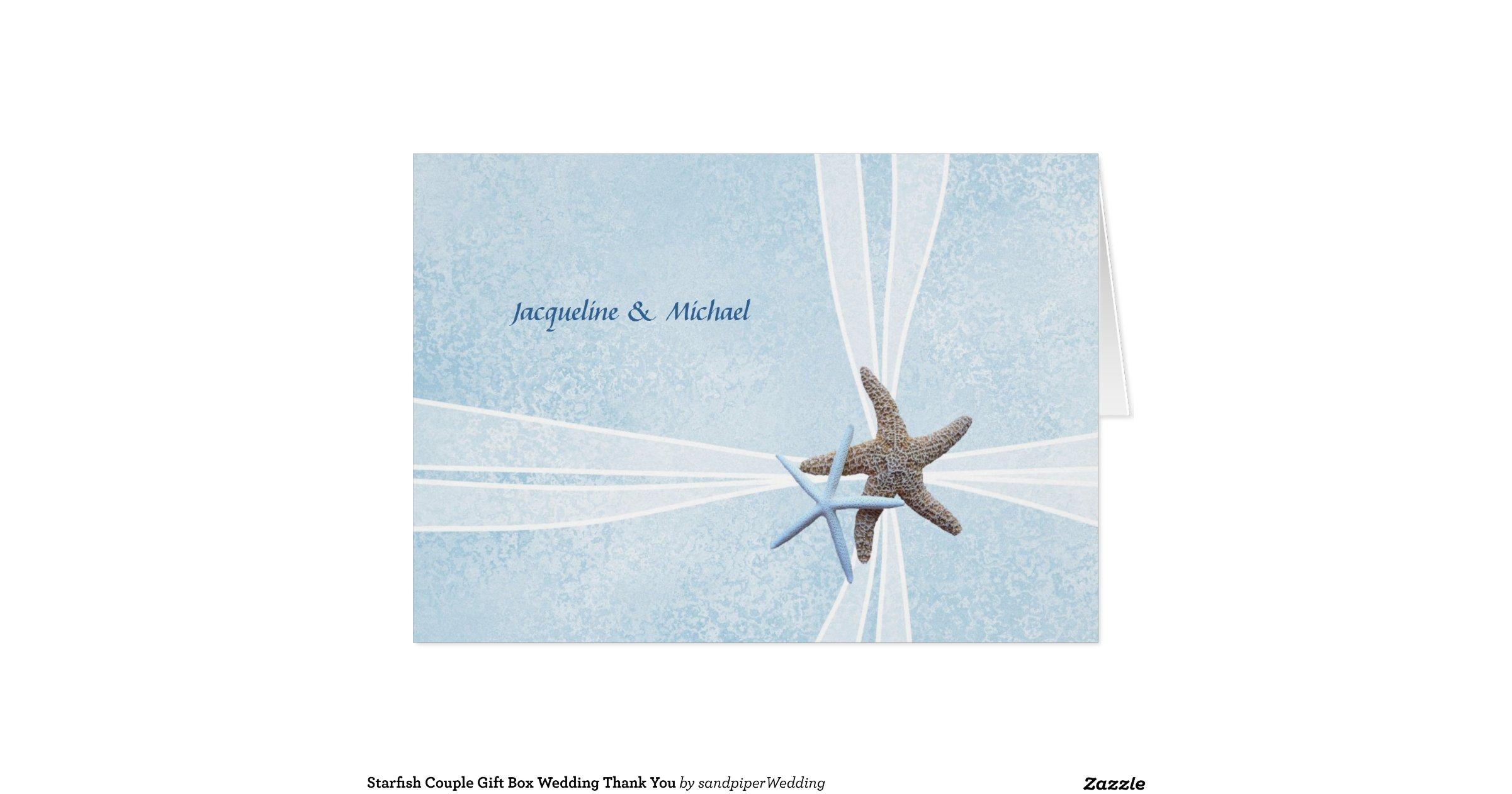 Wedding Thank You Gift Box : starfish_couple_gift_box_wedding_thank_you_cards ...