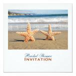 Starfish Couple On The Beach Bridal Shower Card
