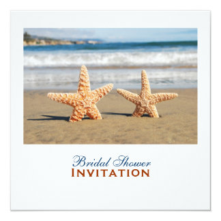Starfish Couple On The Beach Bridal Shower Card
