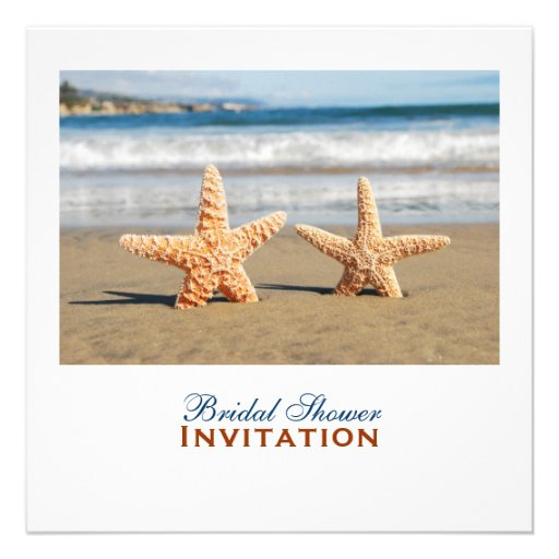 Starfish Couple On The Beach Bridal Shower Invitation