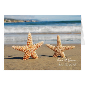 Starfish Couple on the Beach Greeting Card