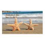 Starfish Couple on the Beach Place Cards Double-Sided Standard Business Cards (Pack Of 100)