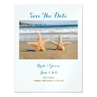 Starfish Couple on the Beach Save The Date Card