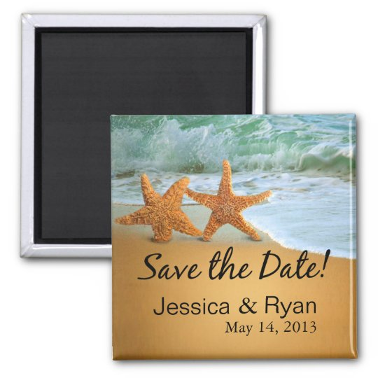 Starfish Couple on the Beach Save the Date Magnet