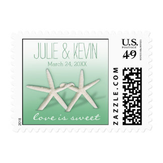 Starfish Couple On The Beach Signature ombre mint Postage Stamps