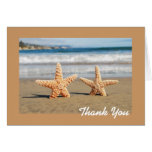 Starfish Couple on the Beach Thank You Cards