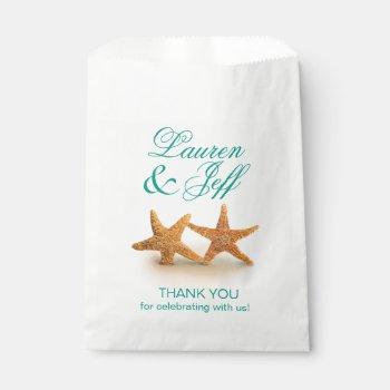 Starfish Couple on the Beach Wedding Favor Bag