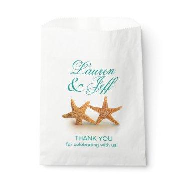 Beach Themed Starfish Couple on the Beach Wedding Favor Bag