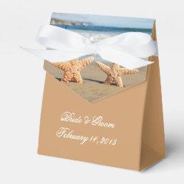 Starfish Couple on the Beach Wedding Favor Box
