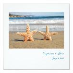 Starfish Couple on the Beach Wedding Invitations