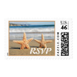 Starfish Couple on the Beach Wedding Postage