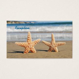 Starfish Couple on the Beach Wedding Reception Business Card
