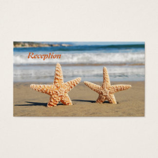 Starfish Couple on the Beach Wedding Reception Business Card