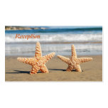 Starfish Couple on the Beach Wedding Reception Double-Sided Standard Business Cards (Pack Of 100)