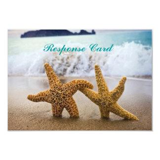 Starfish Couple RSVP Card