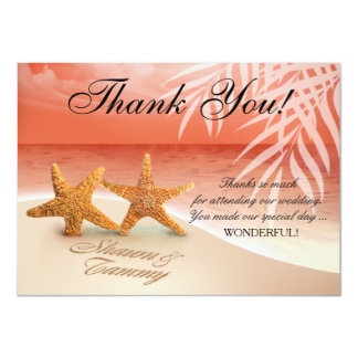 Starfish Couple Thank You   ASK FOR NAMES IN SAND Invitation