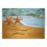 Starfish Couple Thank You Greeting Card