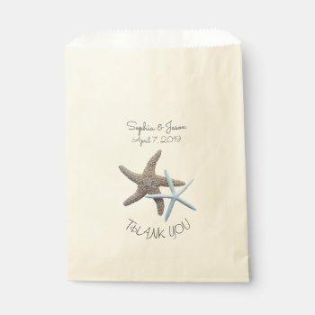 Starfish Couple Thank You Wedding Favor Favor Bag