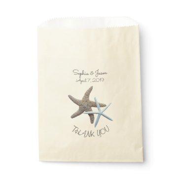 Beach Themed Starfish Couple Thank You Wedding Favor Favor Bag