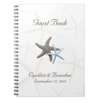 Starfish Couple Wedding Guestbook Notebook