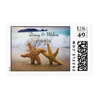 Starfish Couple Wedding Stamp