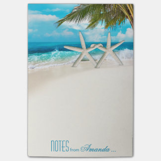 Starfish Couple White Sands Beach Personalized Post-it Notes