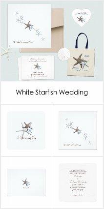Starfish Couple White Wedding