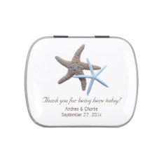 Starfish Couple White Wedding Favor Mint Tin Jelly Belly Tins at Zazzle