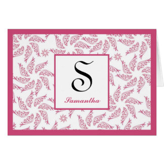 Starfish Cranberry Personalized Notecard Greeting Cards